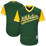 Maglia Baseball Uomo Oakland Athletics Players Weekend 2017 Personalizzate Verde