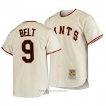 Maglia Baseball Uomo San Francisco Giants Brandon Belt Autentico Cooperstown Collection Primera 1954 Crema
