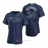 Maglia Baseball Uomo Tampa Bay Rays Trevor Richards Autentico Alternato 2020 Blu