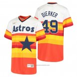 Maglia Baseball Bambino Houston Astros Larry Dierker Cooperstown Collection Primera Bianco