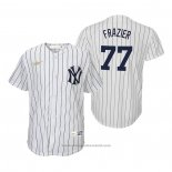 Maglia Baseball Bambino New York Yankees Clint Frazier Cooperstown Collection Primera Bianco