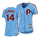 Maglia Baseball Donna Philadelphia Phillies Jim Bunning Cooperstown Collection Road Blu