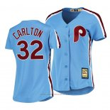 Maglia Baseball Donna Philadelphia Phillies Steve Carlton Cooperstown Collection Road Blu