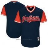 Maglia Baseball Uomo Cleveland Indians Players Weekend 2017 Personalizzate Blu