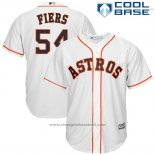 Maglia Baseball Uomo Houston Astros 54 Mike Fiers Bianco Home Cool Base