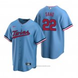 Maglia Baseball Uomo Minnesota Twins Miguel Sano Replica Alternato Blu