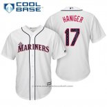 Maglia Baseball Uomo Seattle Mariners 2017 Stelle e Strisce Mitch Haniger Bianco Cool Base