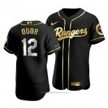Maglia Baseball Uomo Texas Rangers Rougned Odor Golden Edition Autentico Nero