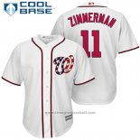 Maglia Baseball Uomo Washington Nationals 11 Ryan Zimmerman Bianco 2017 Cool Base