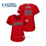 Maglia Baseball Donna Cleveland Indians Corey Kluber 2019 All Star Patch Cool Base Rosso