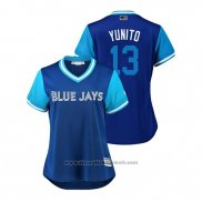 Maglia Baseball Donna Toronto Blue Jays Lourdes Gurriel Jr. 2018 LLWS Players Weekend Yunito Blu