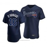 Maglia Baseball Uomo Atlanta Braves Travis D'arnaud Alternato Autentico Blu