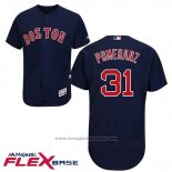 Maglia Baseball Uomo Boston Red Sox 31 Drew Pomeranz Blu Alternato Flex Base