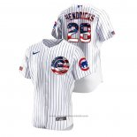 Maglia Baseball Uomo Chicago Cubs Kyle Hendricks 2020 Stars & Stripes 4th of July Bianco