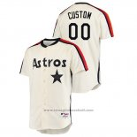 Maglia Baseball Uomo Houston Astros Personalizzate Oilers Vs. Houston Astros Cooperstown Collection Crema