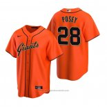 Maglia Baseball Uomo San Francisco Giants Buster Posey Replica Alternato Arancione