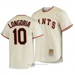 Maglia Baseball Uomo San Francisco Giants Evan Longoria Autentico Cooperstown Collection Primera 1954 Crema