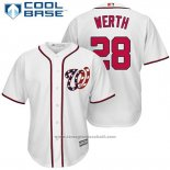 Maglia Baseball Uomo Washington Nationals 28 Jayson Werth Bianco 2017 Cool Base