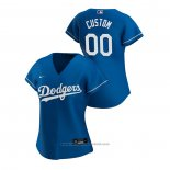Maglia Baseball Donna Los Angeles Dodgers Personalizzate 2020 Replica Alternato Blu