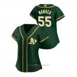 Maglia Baseball Donna Oakland Athletics Sean Manaea 2020 Replica Alternato Verde
