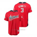 Maglia Baseball Uomo All Star Cincinnati Reds Scooter Gennett 2018 Home Run Derby National League Rosso