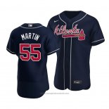 Maglia Baseball Uomo Atlanta Braves Chris Martin Autentico Alternato Blu