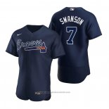 Maglia Baseball Uomo Atlanta Braves Dansby Swanson Autentico 2020 Alternato Blu
