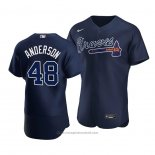 Maglia Baseball Uomo Atlanta Braves Ian Anderson Alternato Autentico Blu