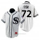 Maglia Baseball Uomo Chicago White Sox Carlton Fisk 1990 Turn Back The Clock Bianco