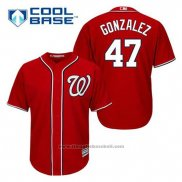 Maglia Baseball Uomo Washington Nationals Gio Gonzalez 47 Rosso Alternato Cool Base