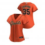 Maglia Baseball Donna San Francisco Giants Brandon Crawford 2020 Replica Alternato Arancione