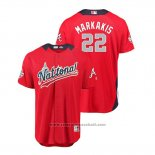 Maglia Baseball Uomo All Star Atlanta Braves Nick Markakis 2018 Home Run Derby National League Rosso
