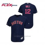 Maglia Baseball Uomo Boston Red Sox Brock Holt Autentico Flex Base Blu