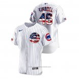 Maglia Baseball Uomo Chicago Cubs Craig Kimbrel 2020 Stars & Stripes 4th of July Bianco