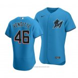 Maglia Baseball Uomo Miami Marlins Pat Venditte Autentico Alternato 2020 Blu