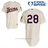 Maglia Baseball Uomo Minnesota Twins Bert Blyleven 28 Crema Alternato Cool Base