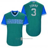 Maglia Baseball Uomo Seattle Mariners 2017 Little League World Series Mike Zunino Verde