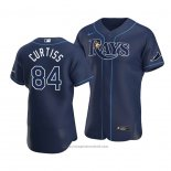 Maglia Baseball Uomo Tampa Bay Rays John Curtiss Autentico Alternato 2020 Blu