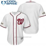 Maglia Baseball Uomo Washington Nationals 2017 Postseason Bianco Cool Base