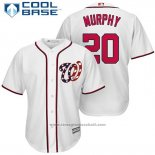 Maglia Baseball Uomo Washington Nationals 20 Daniel Murphy Bianco 2017 Cool Base