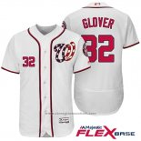 Maglia Baseball Uomo Washington Nationals 32 Koda Glover Bianco 2017 Flex Base