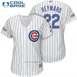 Maglia Baseball Donna Chicago Cubs 2017 Postseason 22 Jason Heyward Bianco Cool Base