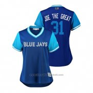Maglia Baseball Donna Toronto Blue Jays Joe Biagini 2018 LLWS Players Weekend Joe The Great Blu