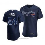 Maglia Baseball Uomo Atlanta Braves Max Fried Alternato Autentico Blu