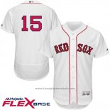 Maglia Baseball Uomo Boston Red Sox 15 Dustin Pedroia Bianco Flex Base Autentico Collection