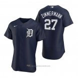 Maglia Baseball Uomo Detroit Tigers Jordan Zimmermann Autentico 2020 Alternato Blu