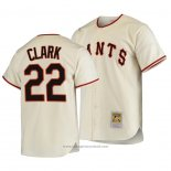 Maglia Baseball Uomo San Francisco Giants Will Clark Autentico Cooperstown Collection Primera 1954 Crema