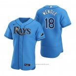 Maglia Baseball Uomo Tampa Bay Rays Joey Wendle Alternato Autentico 2020 Blu