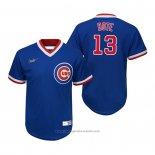 Maglia Baseball Bambino Chicago Cubs David Bote Cooperstown Collection Road Blu