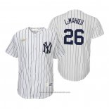 Maglia Baseball Bambino New York Yankees Dj Lemahieu Cooperstown Collection Primera Bianco